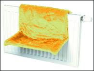 Odpočívadlo CAT-GATO na radiátor béžové, hnědé (1ks)