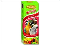 Tyčinky AVICENTRA ovocné pro velké papoušky (2ks)