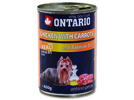 ONTARIO konzerva Chicken, Carrots, Salmon Oil (400g)