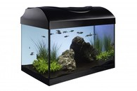 Akvarijní set 40 - černý rovný 40x25x25 cm