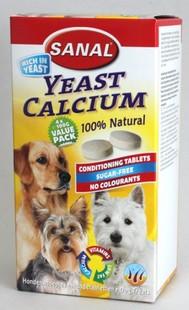SANAL-YEAST CALCIUM kalciové tablety 400g (4x100g)