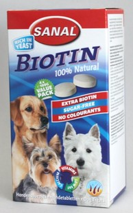 SANAL Biotin-kalciové tablety s biotinem 400g (4x100g)