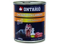 ONTARIO konzerva Chicken, Carrots, Salmon Oil (800g)