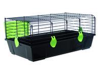 Klec Michal černá, výbava zelená 100*55*39cm