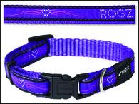 Obojek ROGZ Fancy Dress JellyBean Purple Chrome S (1ks)