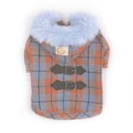 Kostkovaný kabátek s kapucí S