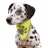 Reflexní šátek pro psa M-L, 45x23cm/20mm TRIXIE