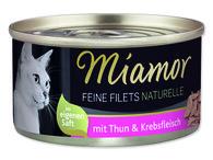 Konz.Miamor Feine Filets Naturelle tuňák+krab ve šťávě 24*80g