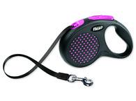 Vodítko Flexi Design páska M-L 5m růžové