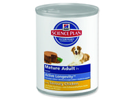 HILL`S Science Plan Canine Mature Adult Active Longevity Chicken konzerva (370g)