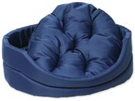 Pelech DOG FANTASY ovál s polštářem tmavě modrý 100 cm (1ks)