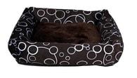Obdelníkový pelech MARINO hnědý 55 x 55 cm