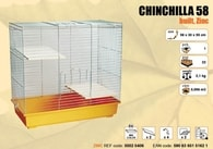 Klec ČINČILA - chrom 580x300x550mm