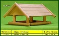 """Krmítko pro venkovní ptactvo dřevěné """"STODOLA"""""""