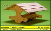 """Krmítko pro venkovní ptactvo dřevěné """"BIDLO"""""""