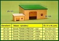 """Domek pro morče, """"Šikmá střecha"""" - dřevěný"""