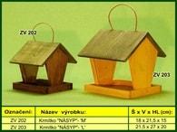 """Krmítko pro venkovní ptactvo dřevěné """"NÁSYP"""" L"""