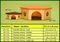 Domek pro morče, rohový - dřevěný