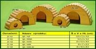 Domek pro morče, Iglú - dřevěný