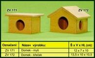 Domek pro křečka - dřevěný