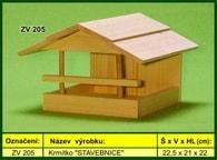 """Krmítko pro venkovní ptactvo dřevěné """"STAVEBNICE"""""""