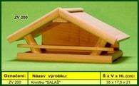 """Krmítko pro venkovní ptactvo dřevěné """"SALAŠ"""""""