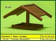 """Krmítko pro venkovní ptactvo dřevěné """"NA NOŽCE"""""""