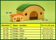 domek pro králika - poloiglu dřevěný