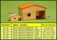 """Domek pro myš """"Sedlová střecha"""" - dřevěný"""
