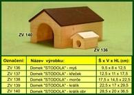 """Domek pro křečka, """"Stodola"""" - dřevěný"""