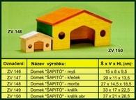 """Domek pro křečka, """"Šapitó"""" - dřevěný"""