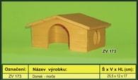 Domek pro morče - dřevěný