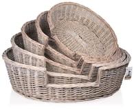 Proutěný košík ovál Provence, 5ks 60-100cm
