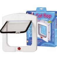 Cats Flaps - kočičí dvířka, bílá