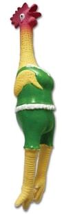 Kohout zelené šaty, 42cm