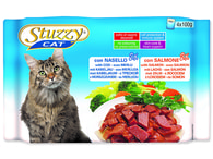 Kapsičky STUZZY Cat treska + losos - multipack (400g)