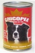 CHICOPEE konzerva hovězí kostky pro psy 1230g