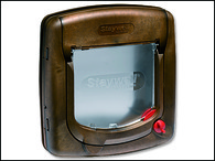 Dvířka STAYWELL hnědá s transparentním flapem 320 (1ks)