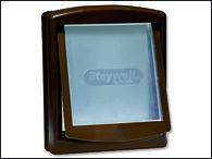 Dvířka STAYWELL hnědá s transparentním flapem 755 (1ks)