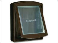Dvířka STAYWELL hnědá s transparentním flapem 775 (1ks)