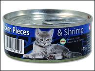 ONTARIO konzerva Junior Chicken Pieces + Shrimp (95g)