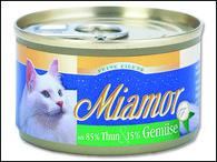 Konzerva MIAMOR Filety tuňák + zelenina (100g)